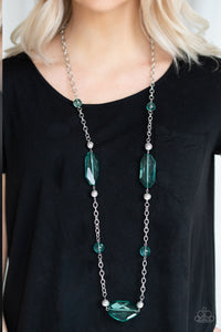 Crystal Charm - Green necklace