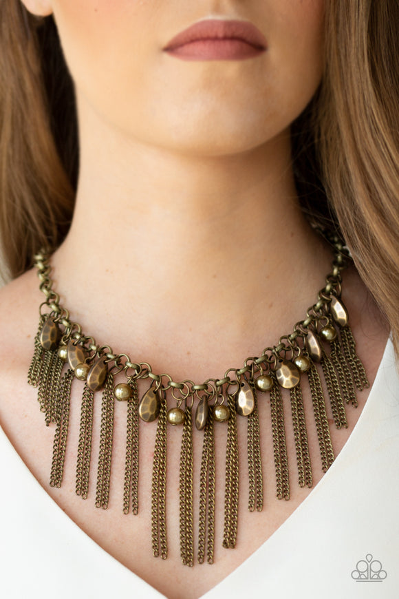Industrial Intensity - Brass necklace