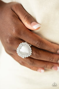 Lovely Luster - White ring