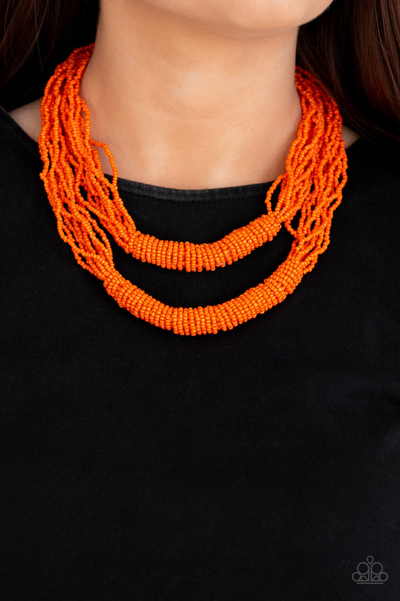Right As RAINFOREST - Orange necklace