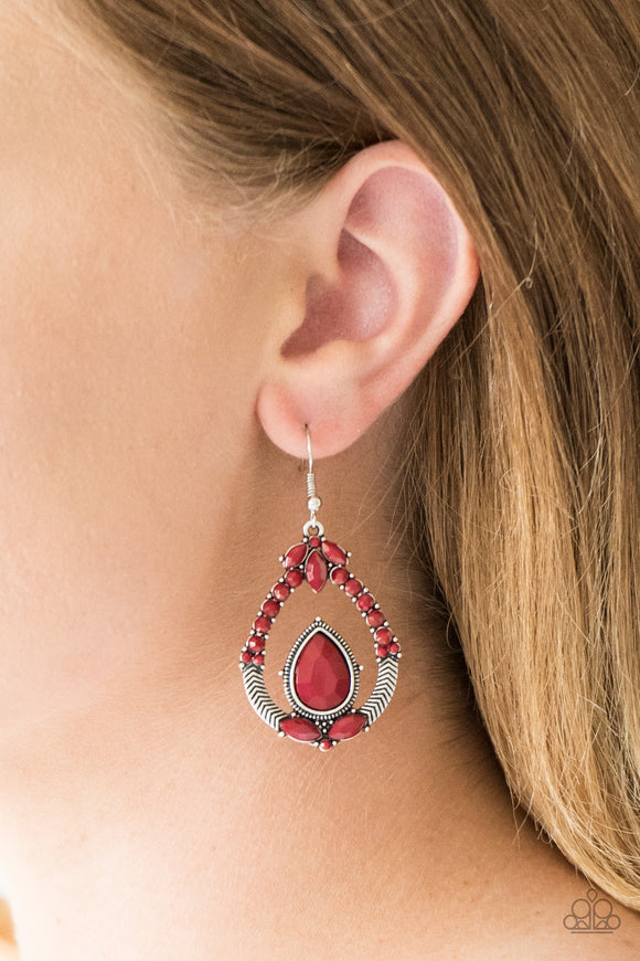 Vogue Voyager - Red earrings