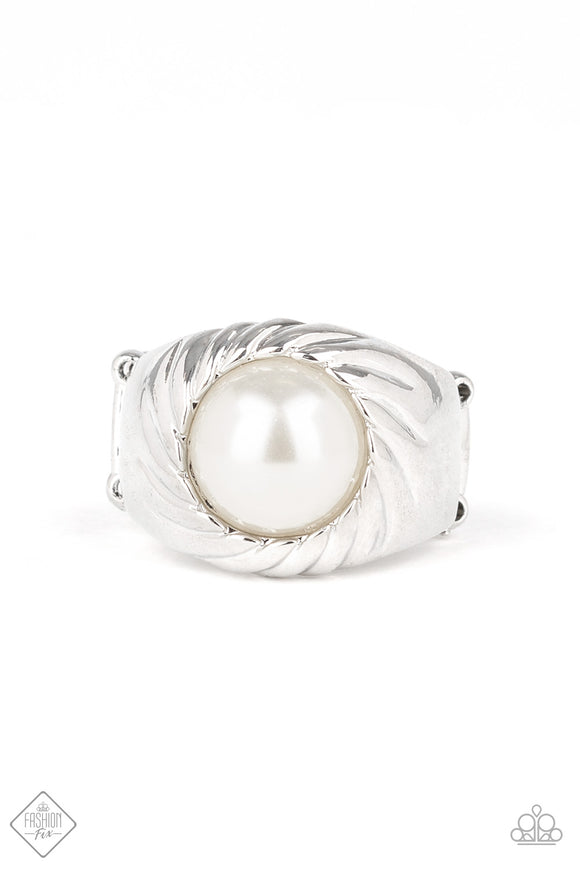 Wall Street Whimsical - white pearl ring