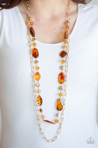 Colorful Couture - Brown necklace