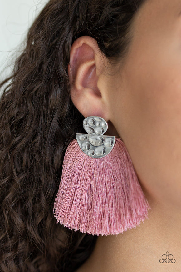 Make Some PLUME - Pink earrings