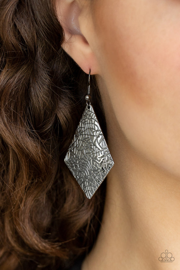 Texture Retreat - Black earrings
