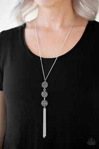 Triple Shimmer - Silver necklace