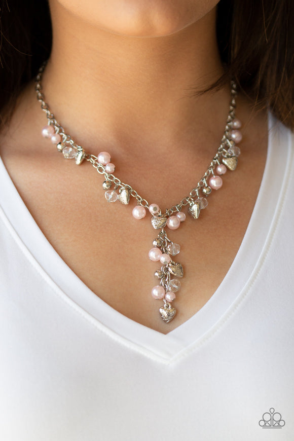 Vintage Heartthrob - Pink necklace