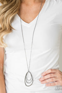 Already Aglow - black/gunmetal necklace