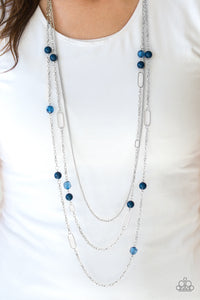 "Paparazzi Necklace/Earring Set -""East Coast Classic - Blue"