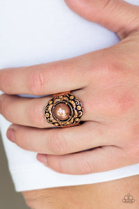 "Paparazzi Ring ""Pearl Princess - Copper"""