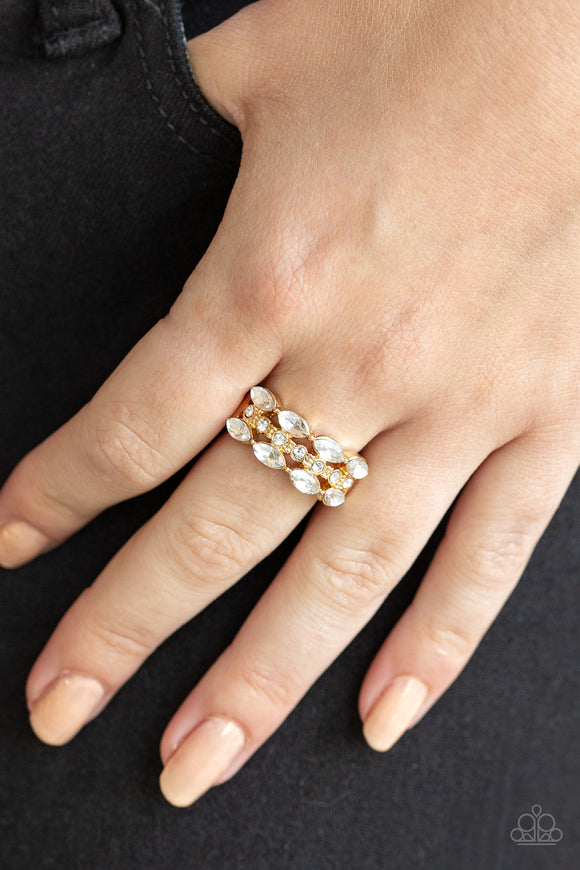 Distractingly Demure - Gold ring