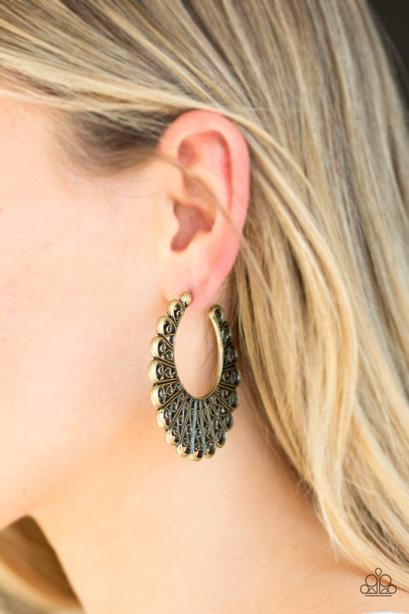 Funky Flirt - Brass earrings