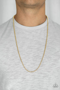Mardi Gras Madness - Gold necklace