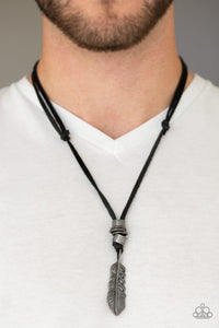 That QUILL Be The Day - Black urban necklace