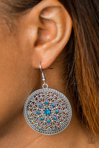 "Paparazzi Earrings - ""Catch A Chill - Blue"""