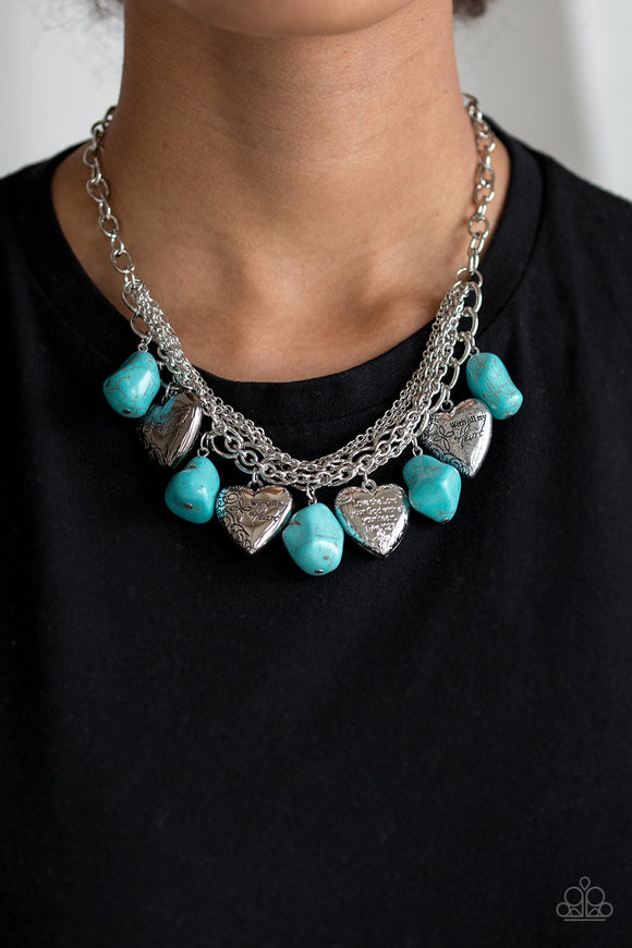 Change Of Heart - Blue necklace set