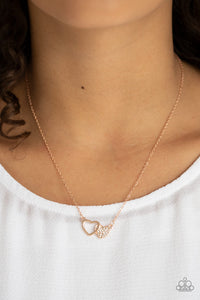 Charming Couple - Rose Gold necklace