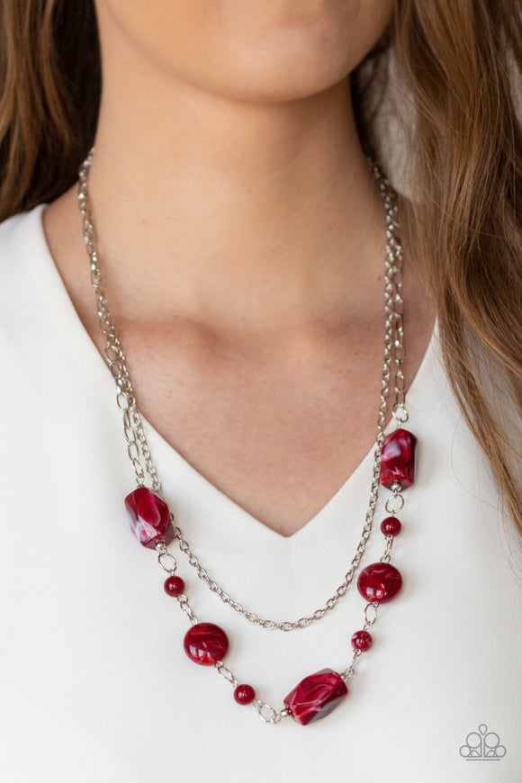 Colorfully Cosmopolitan - Red necklace