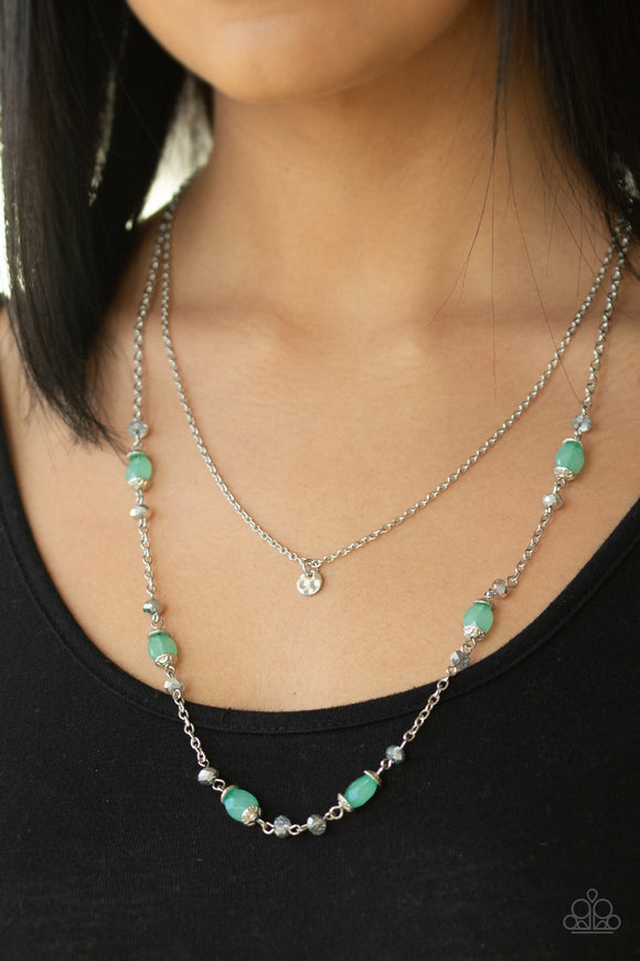 Irresistibly Iridescent - Green necklace