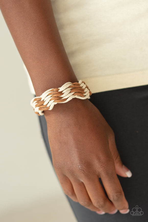 WEAVE High and Dry - Brown urban bracelet