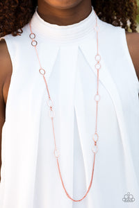 "Paparazzi Necklace & Earring Set - ""Shine Time - Copper"""