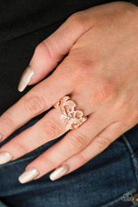 Paparazzi Ring - 'The World Is VINE! - Rose Gold""