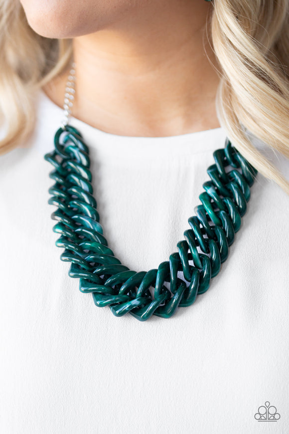 Comin In HAUTE - Green acrylic necklace