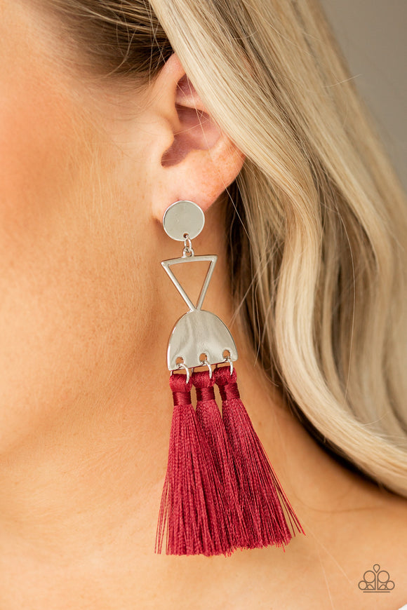 Tassel Trippin - Red earrings