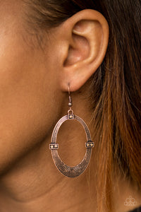 "Paparazzi Earrings - ""Radiantly Rural - Copper"""