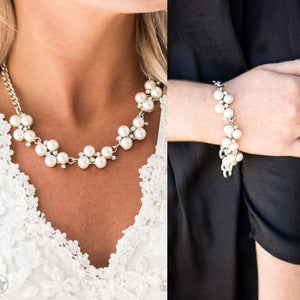 Love Story - White pearl necklace w/ matching bracelet