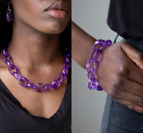 Ice Queen - Purple necklace w/ matching bracelet