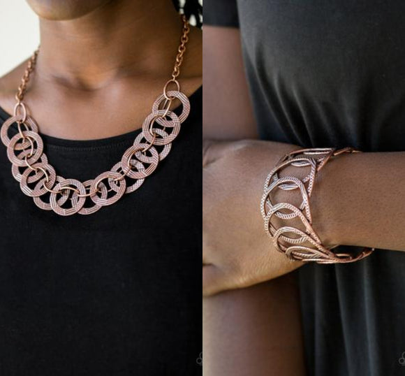 The Main Contender - Copper necklace w/ matching bracelet