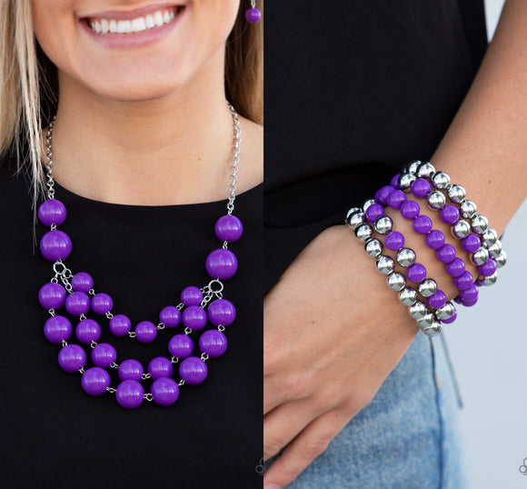 Miss Pop-YOU-larity - Purple necklae