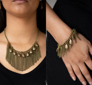 Bragging Rights - Brass necklace w/ matching bracelet