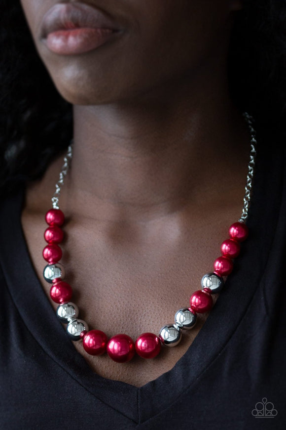Take Note - Red necklace