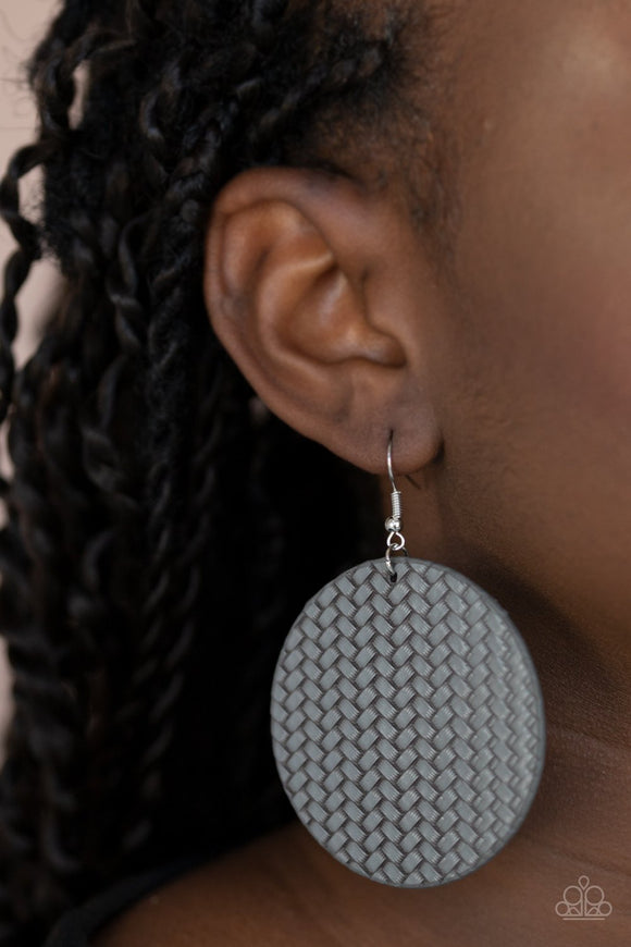 WEAVE Your Mark - silver earrings