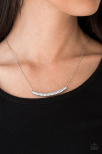 Metro Magnificence - White rhinestones necklace