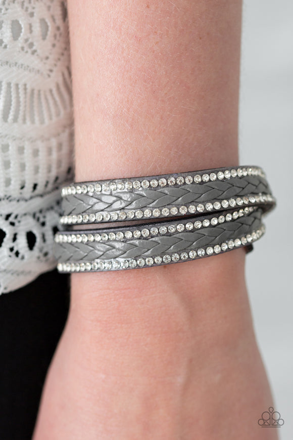 SLAY The Field - Silver wrap bracelet