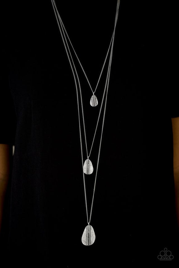Sonoran Storm - Silver necklace