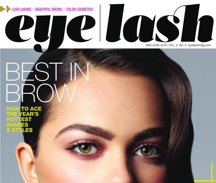 "EYELASH MAGAZINE SPILLS ""TOP BODY BUILDERS"" FOR BROWS"