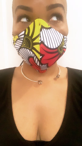 Floral Ankara Washable Face Masks