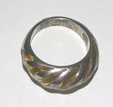 Vintage 925 Marked Sterling Silver Citrine Glass Ring Size 5