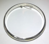 "Vintage Sterling Silver - THAI Textured 7.25"" Hinge Bangle Bracelet"