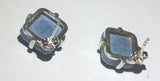 VintageDenim Lapis Sterling Silver Stud Earrings