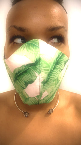 Light Pink and Green Dream Washable Face Mask