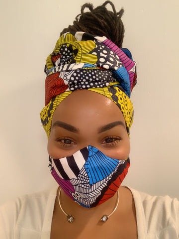 Disco Washable Face Masks+Headwrap