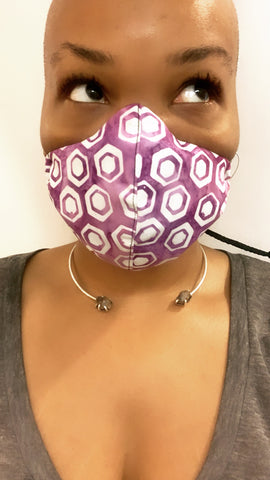 Purple Hex Washable Face Masks