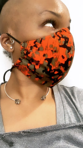 Tribal Camo Washable Face Masks