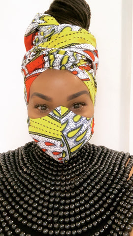 Tidal Washable Face Masks+Headwrap