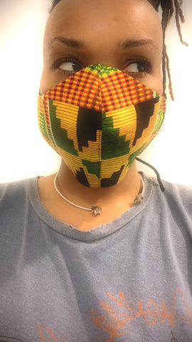 Kente Print Washable Face Masks